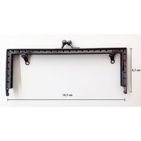 Boquilla monedero color negro rectangular. Ideas Pack&Quilt