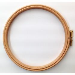 Bastidor redondo de madera para acolchado y bordado(Ø 15 cm). Ideas Patck&Quilt