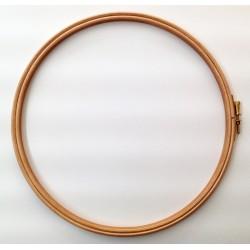 Bastidor redondo de madera para acolchado y bordado (Ø 25 cm). Ideas Patck&Quilt