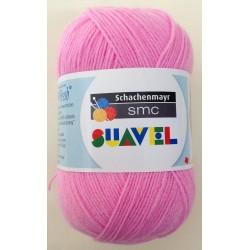 Lana Schachenmayr SUAVEL Rosa fresa col. 08075. Lana suave especial para bebés.
