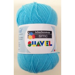 Lana Schachenmayr SUAVEL Azul turquesa col. 08433. Lana suave especial para bebés.