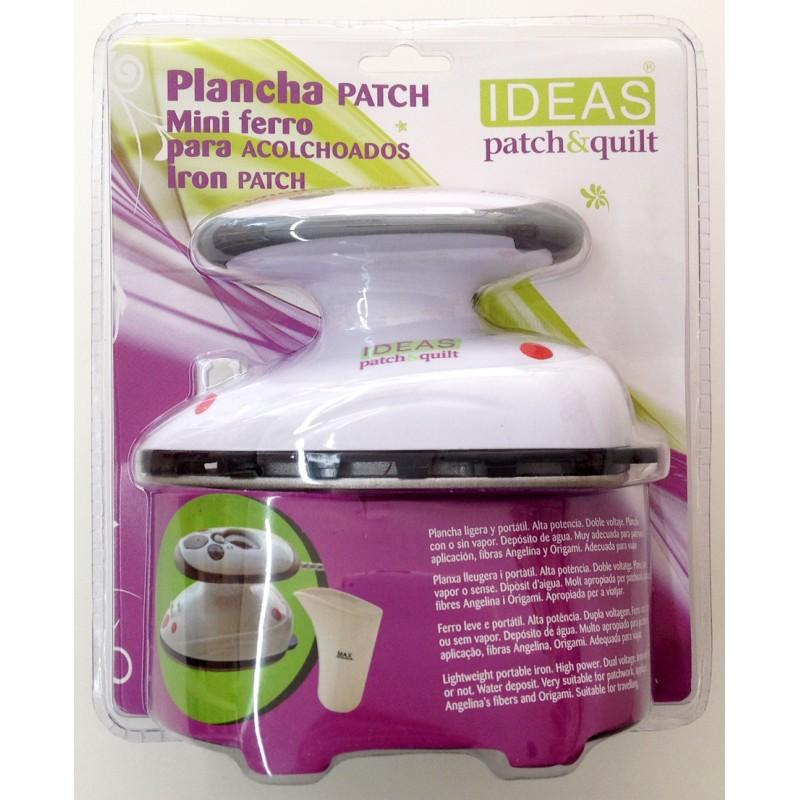 Mini plancha barata Patchwork 400w, con o sin vapor para