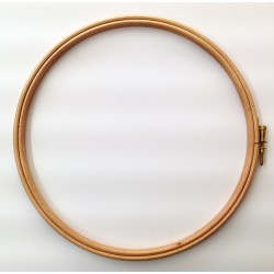 Bastidor redondo de madera para acolchado y bordado (Ø 20 cm). Ideas Patck&Quilt