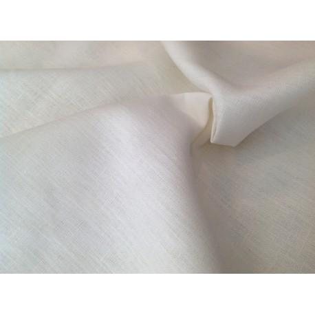 Tela de Lino blanco roto tramada gruesa.